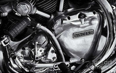 Vincent Engine Detail Print by Tim Gainey