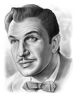 Hollywood Drawing - Vincent Price by Greg Joens