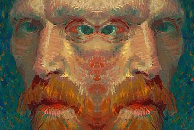 Vincent Van Gogh Meets Salvador Dali 1 Original by Tony Rubino