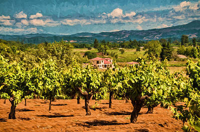Vineyard Estate Print by John K Woodruff