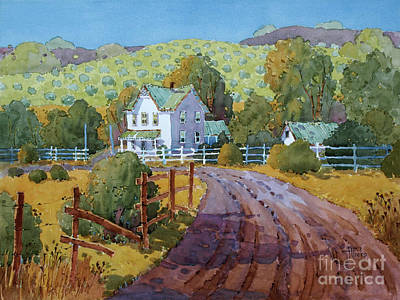 Painting - Vineyard Farm In Cambria by Joyce Hicks