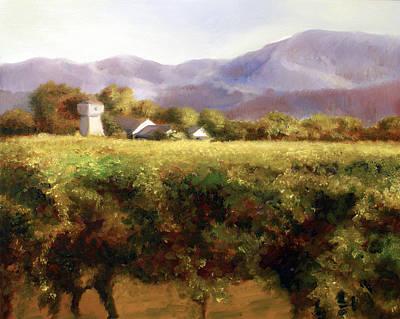 Vineyard Print by Laura Ury