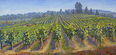Painting - Vineyards In California by Dominique Amendola