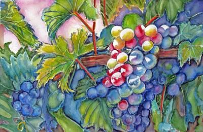 Vino Veritas II Print by June Conte  Pryor