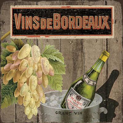 Vins Debordeaux Print by Marilu Windvand