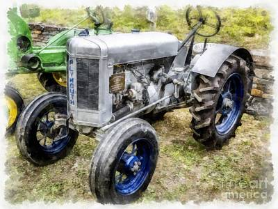 Tracktor Photograph - Vintage 1930 Plymouth Tractor by Edward Fielding