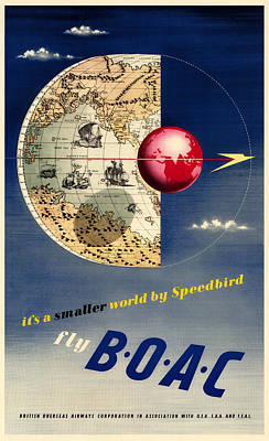 Vintage Airline Ad 1945 Print by Andrew Fare