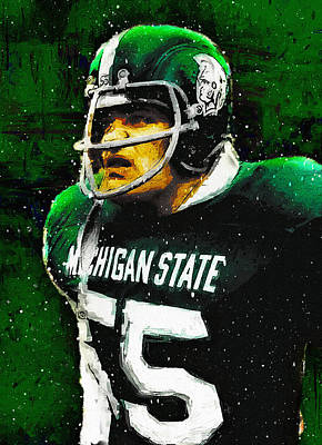 Michigan State Painting - Vintage Anger by John Farr