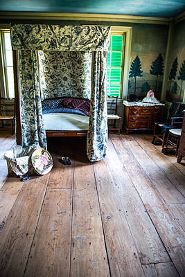 Vintage Bedroom Print by Karol Livote