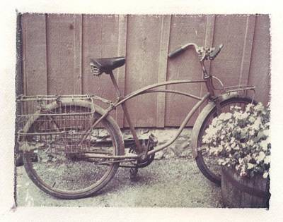 Vintage Bicycle Print by Jane Linders