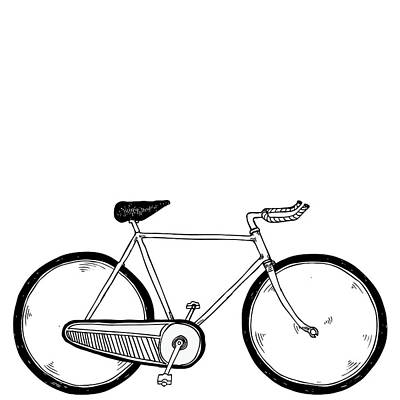 Bike Drawing - Vintage Bike by Karl Addison