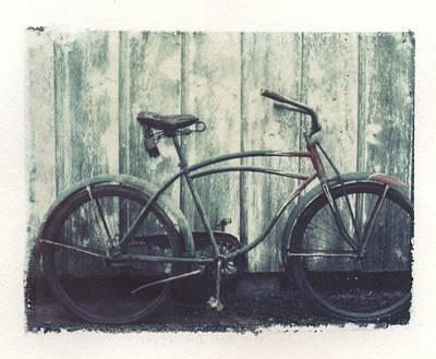 Vintage Bike Polaroid Transfer Original by Jane Linders