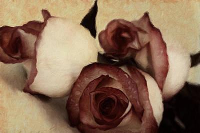 Floral Mixed Media - Vintage Blooms by Georgiana Romanovna