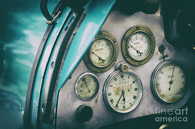 Prescott Photograph - Vintage Bugatti Instruments by Tim Gainey