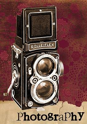 Vintage Camera Poster Print by FL collection