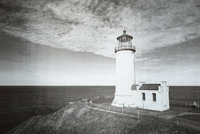 Vintage Cape Disappointment Lighthouse Print by Rich Leighton