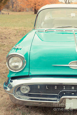 Vintage Blue Photograph - Vintage Car In A Field by Edward Fielding
