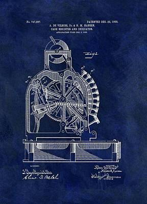 Commerce Mixed Media - Vintage Cash Register Patent by Dan Sproul