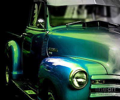 Vintage Chevy 3100 Pickup Truck Side View Print by Steven  Digman