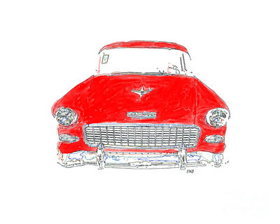 Headlight Photograph - Vintage Chevy by Edward Fielding