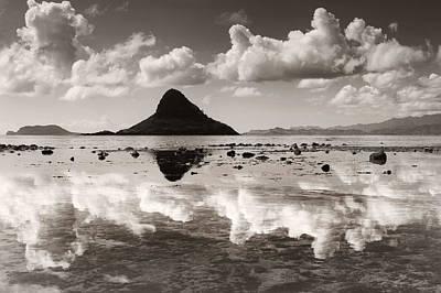 Mokolii Reflections Print by Sean Davey