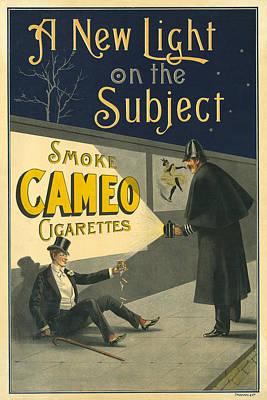 Cigarette Ads Photograph - Vintage Cigarette Ad 1900 by Andrew Fare