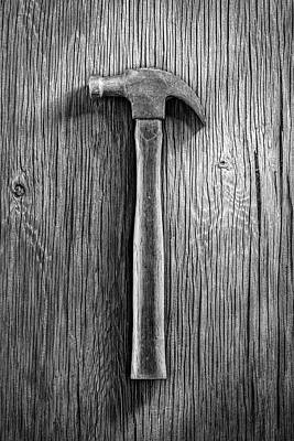 Hand Crafted Photograph - Vintage Claw Hammer by YoPedro