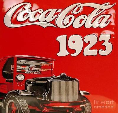 Coca-cola Sign Drawing - Vintage Coca Cola Sign 1923 by Roberto Prusso