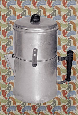 Vintage Coffee Pot Print by Susan Leggett