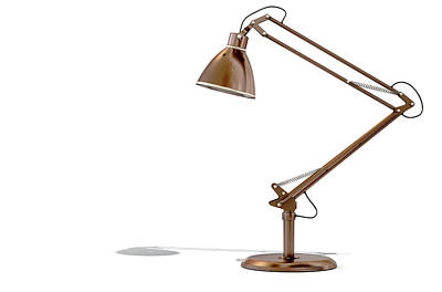 Vintage Copper Desk Lamp Print by Allan Swart