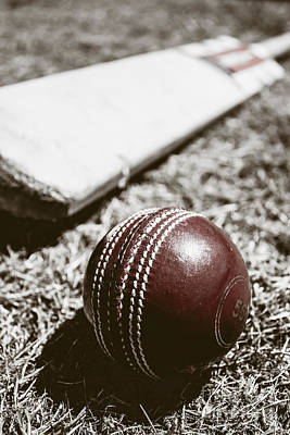 Vintage Cricket Print by Jorgo Photography - Wall Art Gallery