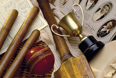 Vintage Cricket Print by Simon Kayne