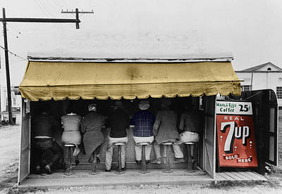 7up Sign Photograph - Vintage Diner 1939 by Andrew Fare