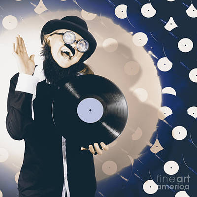 Vintage Dj Bringing Back The Retro Beat Print by Jorgo Photography - Wall Art Gallery