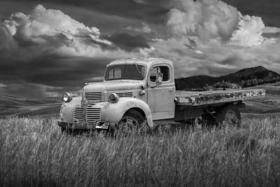 Old Trucks Photograph - Vintage Dodge Truck In Wyoming by Randall Nyhof