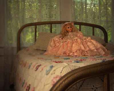 Home Made Quilts Photograph - Vintage Doll by Mitch Spence
