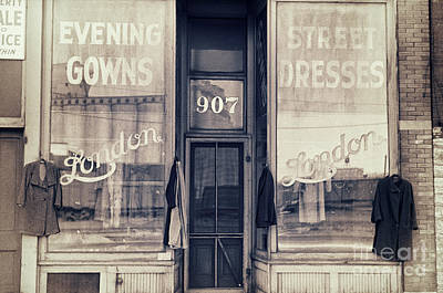 Evening Gown Painting - Vintage Dress Shop by Mindy Sommers