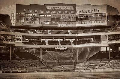 Boston Red Sox Photograph - Vintage Fenway Park by Susan Candelario