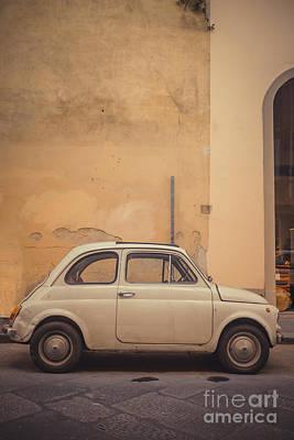 Vintage Fiat In Italy Print by Edward Fielding