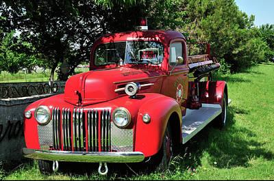 Vintage Fire Truck Print by Betty LaRue