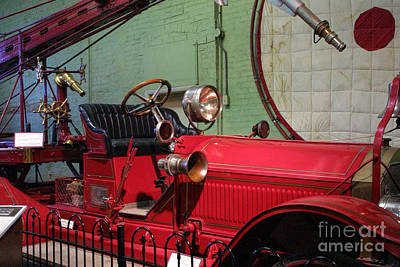 Vintage Fire Wagon Original by Linda Phelps