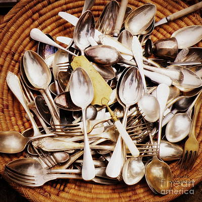 Vintage Flatware Collection  Print by Lainie Wrightson