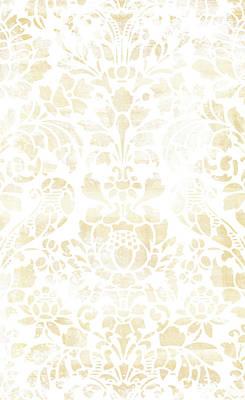 Regular Painting - Vintage Floral Pattern White Wash by Frank Tschakert