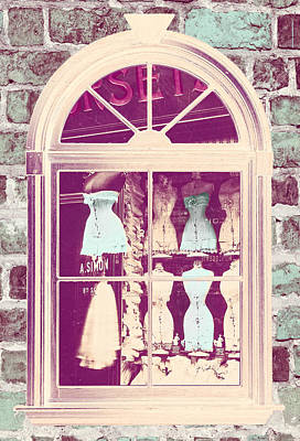 Vintage French Corset Shop Print by Mindy Sommers