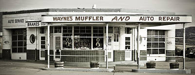 Muffler Photograph - Vintage Gas Station by Marilyn Hunt
