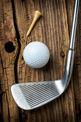 Knotholes Photograph - Vintage Golf Club by Garry Gay