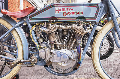 Vintage Harley Davidson Racer Print by Tim Gainey