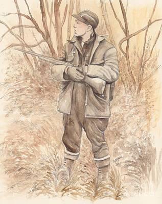 Vintage Hunting Print by Morgan Fitzsimons