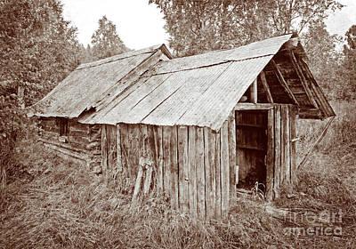 Vintage Iditarod Trail Shelter Cabins Print by John Stephens