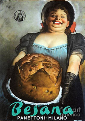 Vintage Italian Fresh Baked Bread Print by Mindy Sommers